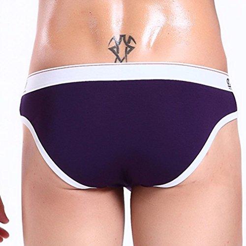 Honghu Pouch Slips Sous-vêtements Homme Size S Violet