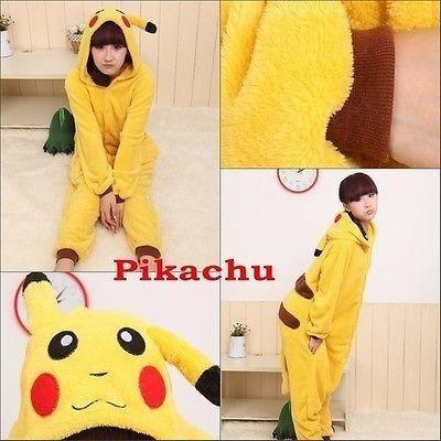 Hot Unisex Adult Pajamas Kigurumi Cosplay Costume Animal Onesie Sleepwear (L, Pikachu)