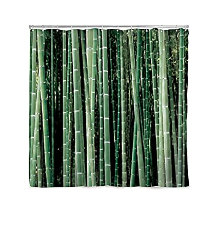 Amazon.com: Kikkerland Shower Curtain, Bamboo: Home & Kitchen