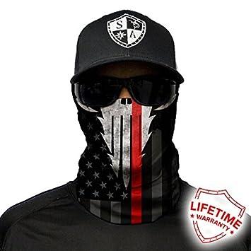 /Face Masks von SA Company * 40/ * qualit/à Bandana//Multifunzione//Telo Tubo//Fazzoletto da Collo in Tessuto /& SPF 40/ Design Disponibile SA Fishing Face Shields