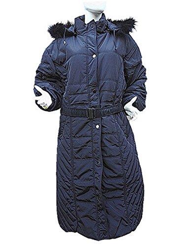 Daunenjacke Damen Fashionfolie Schwarz Mantel