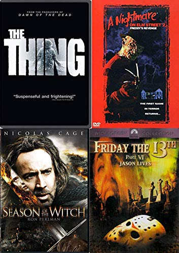 Witches Not Humans! - Season of the Witch & The Thing + Friday 13th Jason Lives & Nightmare on Elm Street Freddy's Revenge 4-DVD Horror Bundle