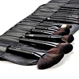 DRQ 32 Pieces Professional Makeup Brush Set Cosmetic Brush Set Kit_Black