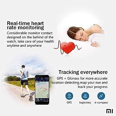 AMAZFIT Bip Xiaomi Smartwatch Monitor de actividad Pulsómetro Ejercicio Fitness Reloj deportivo (Versión Internacional) Negro/Black