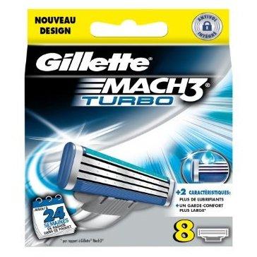 Recambio Gillette Mach3 Turbo 8 Unidades: Amazon.es: Alimentación y bebidas