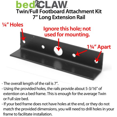 Amazon Com Bed Claw Twin Full Footboard Attachment Kit With Combo