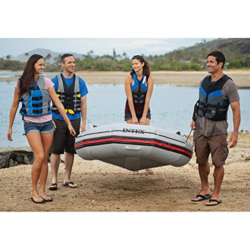 Intex Mariner 4, 4-Person Inflatable Boat Set with Aluminum Oars and High Output Air Pump (Latest Model) by Intex (Image #5)