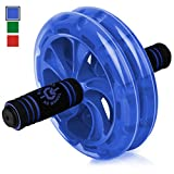 BIO Core Ab Roller – Fitness Wheel & Abdominal Carver To Workout, Exercise & Strengthen Your Abs & Core – Plus, Get A FREE Pro Knee Mat To Supplement Your Training For A Limited Time – Blue For Sale