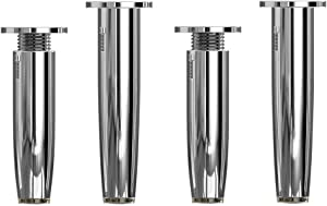 GONGFF Furniture feet, Adjustable Sofa Legs Made of Metal, Support feet for Bathroom Cabinet, Replacement feet 8-20cm