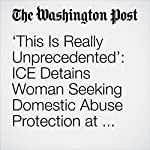 'This Is Really Unprecedented': ICE Detains Woman Seeking Domestic Abuse Protection at Texas Courthouse | Katie Mettler