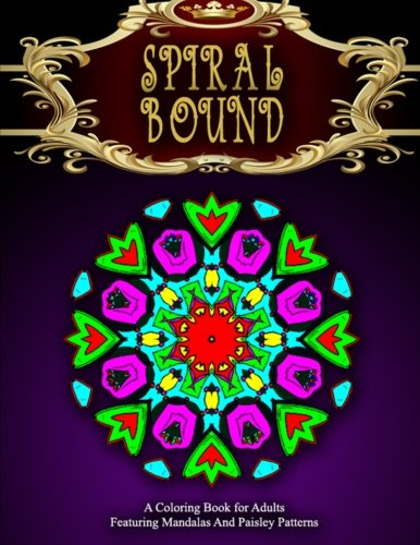 SPIRAL BOUND MANDALA COLORING BOOK - Vol.4: Women Coloring Books For Adults (Volume 4)
