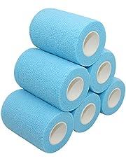 COMOmed Bandages,cohesive Bandage,Crepe Bandages,Medical Bandage,self Adhesive Bandage ,cohesive Bandages,Vet wrap ,Gauze Bandage, 7.5 cm x 4.5m (Lake Blue, 6 Rolls…