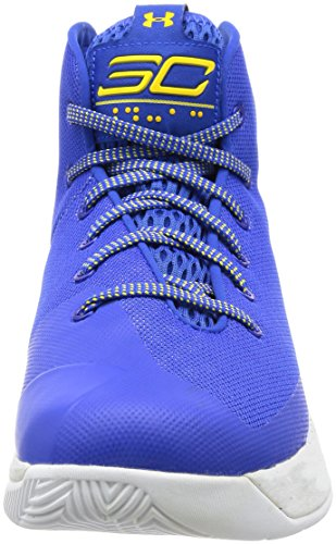 Under Armour UA Curry 3 Hombre Zapatillas Baloncesto Blue / White-yellow