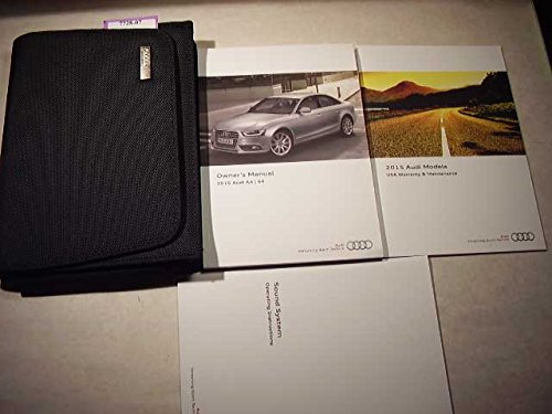 2015 Audi A4 S4 Owners Manual