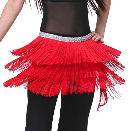 ventre danse gland main Hip Dance YouPue Danse Rouge Foulard Belly du Orientale Tribal Ceinture de Dance Belly foulard A7xwz0qPC