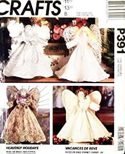 "1992 Mccall's Craft Pattern 6156. 13.5"" Angel, (Treetopper &/Or Centerpiece), with Clothes & Wings"