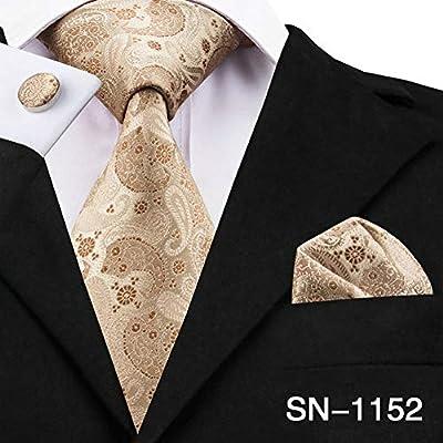 WOXHY Corbata de los Hombres Sn-1036 Conjunto de Gemelos con ...