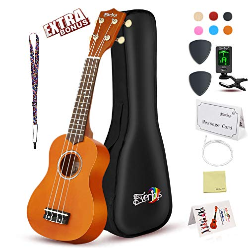 - Soprano Ukulele Beginner Pack-21 Inch w/Gig Bag Fast Learn Songbook Digital Tuner All in One Kit