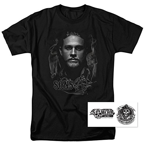 Sons of Anarchy Jax Teller T Shirt & Exclusive Stickers (XX-Large), -