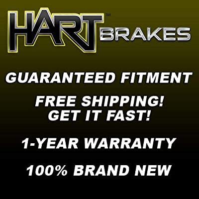 Fit 2006-2015 Mazda 5 Front Rear HartBrakes Blank Brake Rotors Kit+Ceramic Brake Pad: Automotive