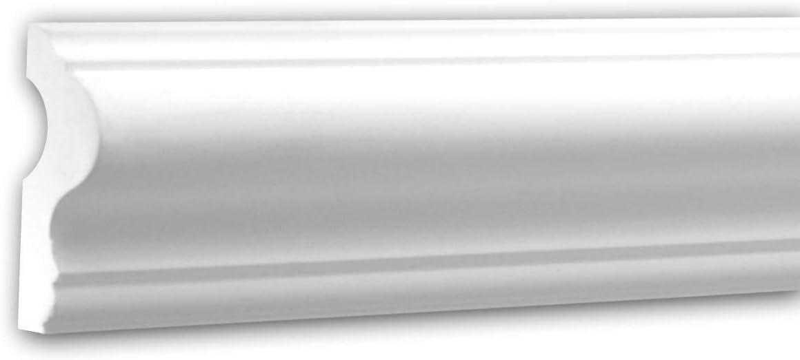 Moldura para pared 651302 Profhome Perfil de estuco Moldura decorativa Moldura decorativa pared estilo Neoclasicismo blanco 2 m