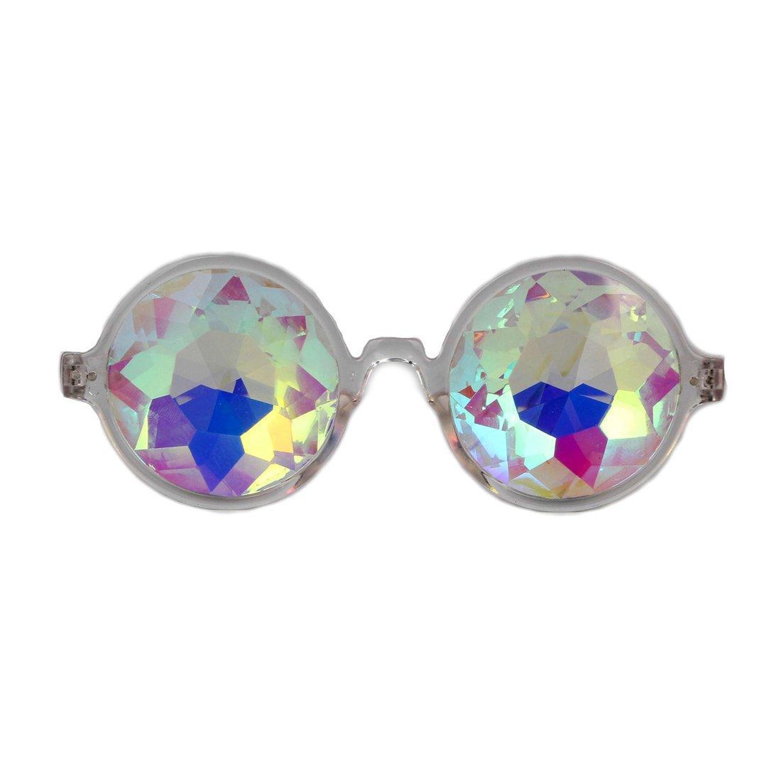 FIRSTLIKE Festive carnival kaleidoscope glasses - rainbow prism diffraction crystal lens
