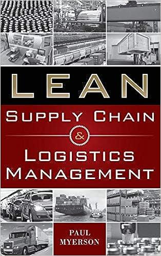 Amazon Com Lean Supply Chain And Logistics Management
