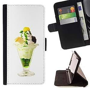 For Sony Xperia Z1 Compact D5503 - Funny Tasty Ice Cream /Funda de piel cubierta de la carpeta Foilo con cierre magn???¡¯????tico/ - Super Marley Shop -