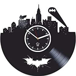 Vinyl Record Kovides, Gift For Kids, Batman Vinyl Wall Clock, Valentines Day Gift, Best Gift For Boyfriend, Home Decor, Unique Design, DC Comics, Movie, Nursery Decor, Gotham City, Arkham Knight