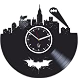 Vinyl Record Kovides, Gift For Kids, Batman Vinyl Wall Clock, Valentines Day Gift, Best Gift For Boyfriend, Home Decor, Unique Design, DC Comics, Movie, Nursery Decor, Gotham City, Arkham Knight