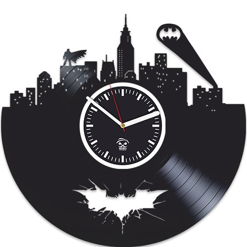 Vinyl Record Kovides, Gift For Kids, Batman Vinyl Wall Clock, Valentines Day Gift, Best Gift For Boyfriend, Home Decor, Unique Design, DC Comics, Movie, Nursery Decor, Gotham City, Arkham Knight For Sale