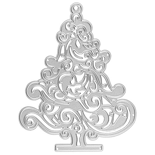 Die Set, Christmas Tree, 11cm x 8.7cm, Suitable for most Die Cutting Machines | Card Making Template Auflegern, Tags, Card | Christmas Advent Winter Ideen mit Herz