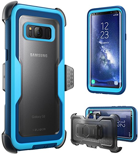 i-Blason Galaxy S8 Case, [Armorbox] [Full Body] [Heavy Duty Protection ] Shock Reduction/Bumper Case Without Screen Protector for Samsung Galaxy S8 2017 Release (Blue)