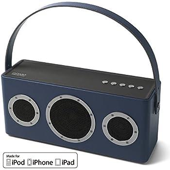 AirPlay MFi Certified Speaker,Wireless Speaker GGMM WiFi Bluetooth Speaker for Streaming Music, Portable Indoor Outdoor Smart Speaker Enhanced Bass Speaker with Built-in Battery 10 Hour Playtime