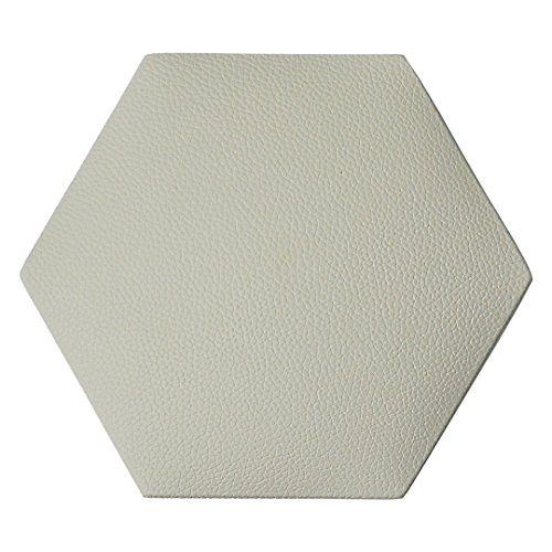 Art3dwallpanels Faux Leather Tiles 3D Wall Panels Hexagonal Mosaic Wall Tiles (20 Pack)
