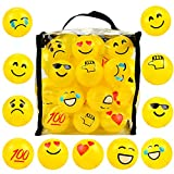 50 Emoji Pit Balls , Ball Pit , Crush Proof Plastic Ball Pit with Sturdy Clear Bag