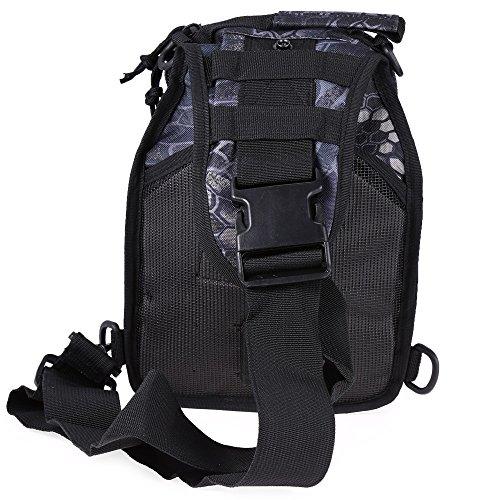 Hiking Shoulder Camping Python Outdoor Travel Black Backpack Military Bag Trekking 7dwnBC