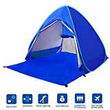BATTOP Automatic Pop Up Beach Tent Sun Shelter Cabana 2-3 Person UV Protection Beach Shade for Outdoor Activities (Dark Blue)