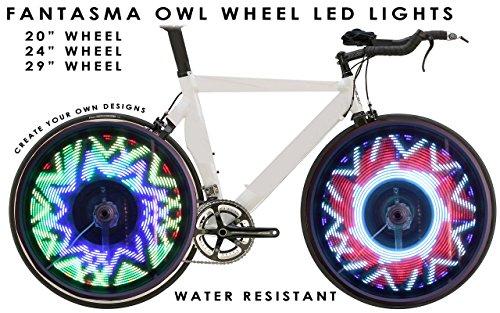 Fantasma OWL Bicycle On-Wheel Programmable LED Imaging System BK-7082 (700c~up) by Fantasma