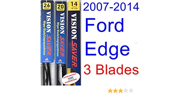 Amazon.com: 2007-2014 Ford Edge Replacement Wiper Blade Set/Kit (Set ...