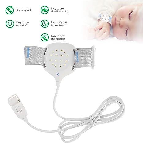 Enuresis-Alarm f/ür Babys Vibration und Licht hohe Empfindlichkeit 3 Alarme Sound