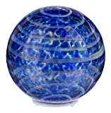 GanzInc 4'' Battery Operated Light Up Glass Orb (Blue)