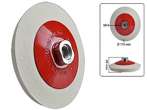 Glas und Kunststoff abgeschr/ägte Schwabbelscheibe Filz 115 mm f/ür Metall