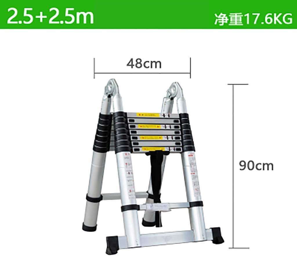 Telescópico Plegable Escalera,aluminio Aleación Escaleras De Mano Extensible Multifunción Escalera Portátil Escalera De Servicio Pesado-c4 2.5+2.5m: Amazon.es: Bricolaje y herramientas