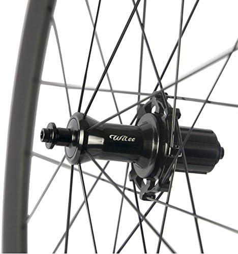 Wilee Bike 38mm クリンチャー 100% T700c カーボンホイール 700C マット仕上げ ロードバイク用