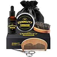 ZenNutt Beard Grooming & Trimming Kit for Men Care with Unscented Beard Conditioning Oil