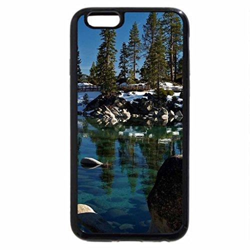 iPhone 6S / iPhone 6 Case (Black) beautiful clear lake in winter