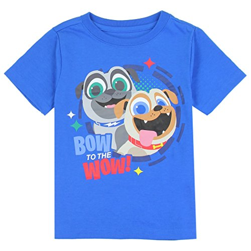 Disney/Puppy Dog Pals Toddler Boys T-Shirt, Grey, Green, Red, Yellow, Royal Blue or Navy Blue, Sizes: 2T-4T