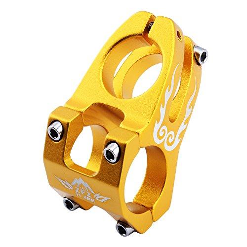 ZFZ Bicycle Bike Stem 31.8mm Super Light MTB BMX DH FR Handlebar Accessories Black Red Blue Gold (Gold) (Bmx Bikes Black And Gold)