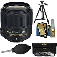 Nikon 35mm f/1.8G AF-S ED Nikkor Lens with 3 UV/CPL/ND8 Filters + Tripod Kit for D3200, D3300, D5300, D5500, D7100, D7200, D750, D810 Cameras